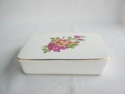 Gránit kerámia rózsás ékszertartó doboz