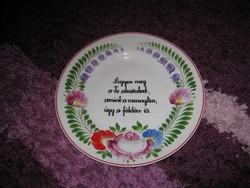 NAGYON RITKA, Hollóházi tányér, Legyen meg a Te akaratod! A/ 1.