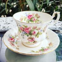 Royal Albert Moss Rose rózsás teás szett