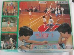 Victory-3 retro SKÁLA-COOP társasjáték labdarúgás-röplapda-tenisz