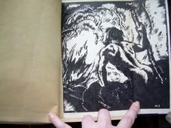 Muhits Sándor eredeti fametszeteivel Gáthy Fülöp Embersors eredeti kézirata