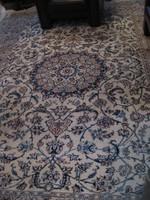 Nagy méretű kézi perzsa szőnyeg perzsaszőnyeg Nain 2,85 x 3,82 cm-es