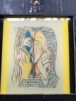 Csempekép Picasso grafikával, Mosa-X, sorszámozott, eredeti dobozában