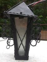 Retro fali kovácsoltvas kocsilámpa,udvari lámpa, kerti lámpa fali lámpa