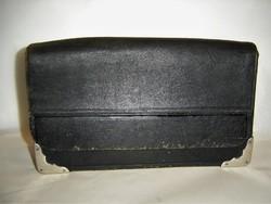Hatalmas antik bőr postás brifkó