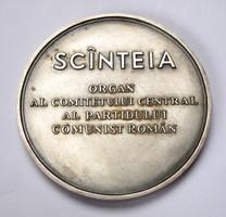 Scînteia,Román Kommunista Párt sajtószerve, ezüst emlékérem, R!