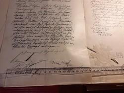 Eredeti 3 generációs JULIUS MEINL dokumentumok, tervrajzok, bérleti szerződések, aláírások, 150 db