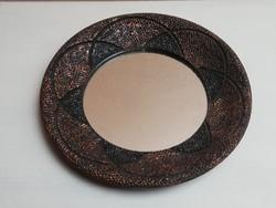 Iparművész bőrkeretes tükör