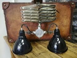 Ipari dupla burás mennyezeti lámpa, géplámpa burás zománc lámpa, loft, industrial