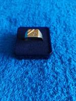1,-Ft Férfi 9K arany pecsétgyűrű gyémánttal!