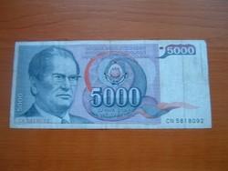 JUGOSZLÁVIA 5000 DINÁR 1985 J.B.TITO CN  #