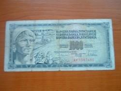 JUGOSZLÁVIA 1000 DINÁR 1978 AV
