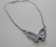 Szépséges ezüst köves  nyakék