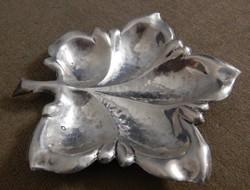 Ezüst tálka, hamutartó, levél alakú, 66 g