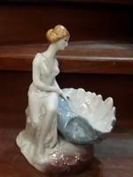 25 cm-es gyönyörű német porcelán, hibátlan, ajándék.