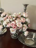 Vintage shabby chic rózsacsokor Selyemvirág igényes kivitelben