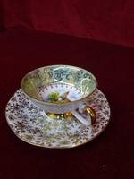 EIGL minőségi  antik porcelán Ausztria, kávéscsésze + alátét. Burg Heidenreischtein N.Ö.