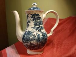 Jelenetes, angol, porcelán nagy méretű kiöntő