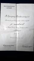 Anna főhercegnő aláírással Magyar Cserkészleány Szövetség 1928. OKLEVÉL