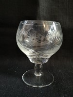Csiszolt kristály konyakos pohár, hibátlan