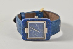 Különleges luxus 18 kr.arany Lapisz lazuli karóra:Century