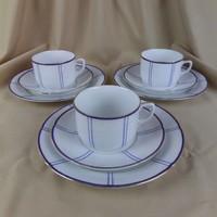 RFH cseh reggeliző szett, 5 db, egyenként is, vékony finom porcelán