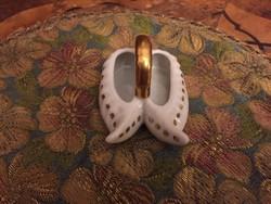 Gyönyörű porcelán sótartó cipők
