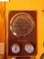 Hajós barométer,hőmérő rézkarccal