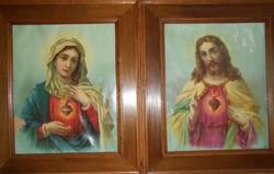 Fakeretes szentkép párban