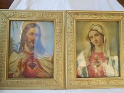 Szentkép pár arany színű keretben