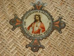 JÉZUS SZÍVE HÁZ ÁLDÁS FELIRATOS FÉM LEMEZ