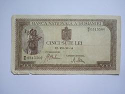 Románia 500  Lei 1941 !!
