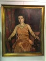 Bánovszky Miklós : Fiatal nő képmása