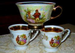 3  db csésze pohár zsáner jelenetes