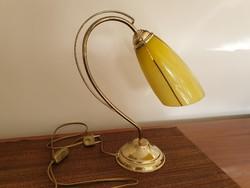 Régi retro art deco stílusú Szarvasi asztali lámpa mid century