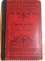 Sarah Grófnő/ Ohnet György,1.. Kötet. 1891,Singer És Wolfner kiadása Budapest