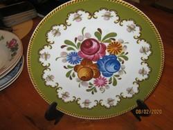 Virágos dísz tányér