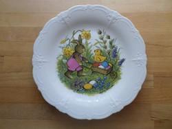 Tirschenreuth Bavaria Baronesse tányér lapostányér tavaszi húsvéti mintával 26 cm