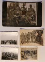 5 db katonafotó, egyikük 1918-ból, részletes felirattal