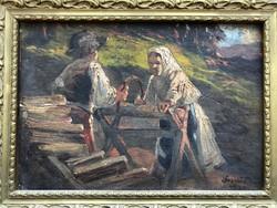 Ócsvár Rezső - Favágás