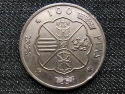 Spanyolország Francisco Franco (1936-1975) .800 ezüst 100 Peseta (68) 1966 / id 16314/