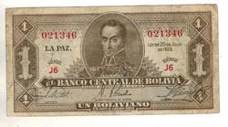 1 boliviano 1928 2. kiadás (1951) Bolivia