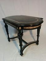 Bécsi Boulle-stílusú asztal