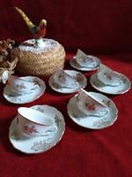 Antik Cseh porcelán kávés csészék 6 db kávéskészlet