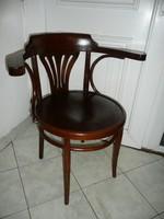 """Nagyon szép és stabil antik nagy ülőlapos jelzett Thonet főnöki íróasztal szék - """"STABIL"""""""