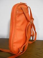 Női hátitáska vászon narancs új