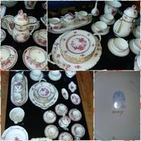 Herendi Apponyi készlet, purpur-fleur de indes, 6 személyes, 47 db-os