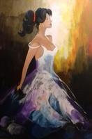 A Nő - Fekete legyezővel című festmény
