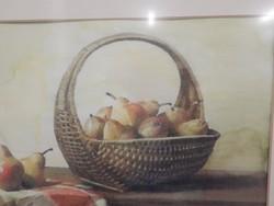 Pál György : Asztali csendélet , Akvarell