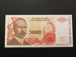 Bosznia 50000 Dinar UNC 1993